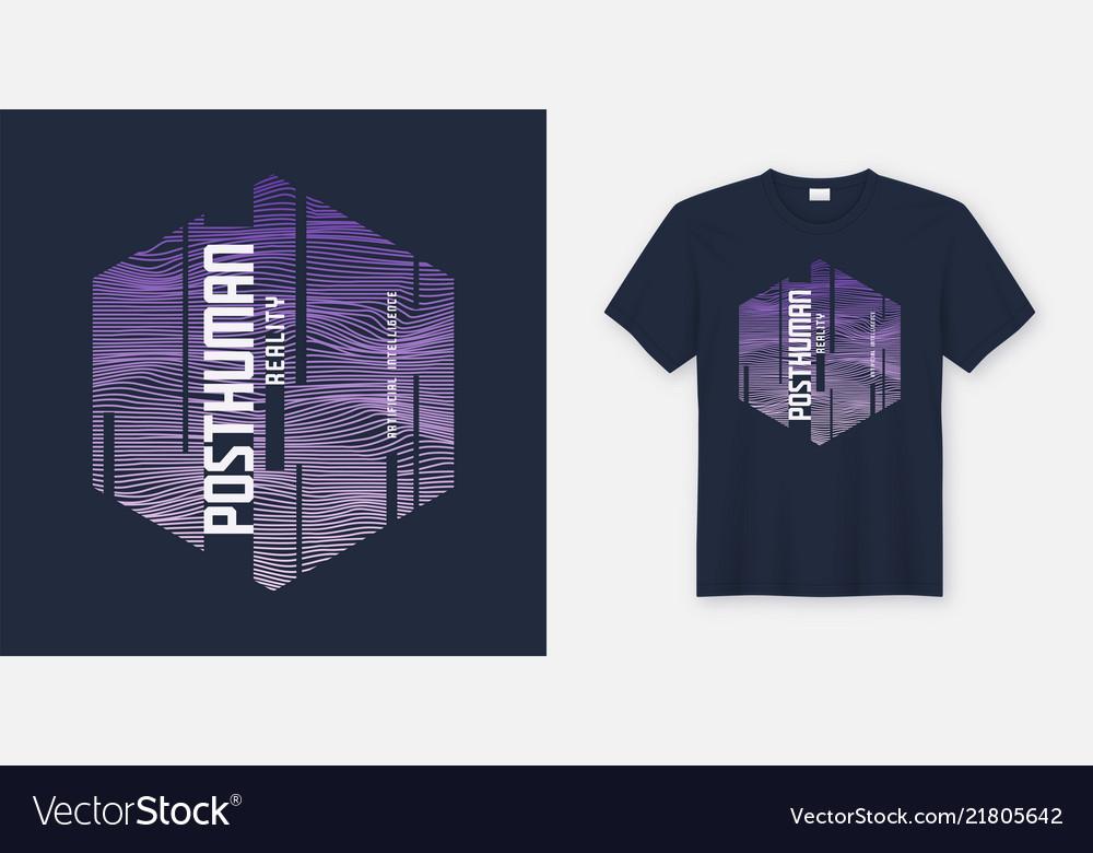 Posthuman reality abstract sci-fi t-shirt