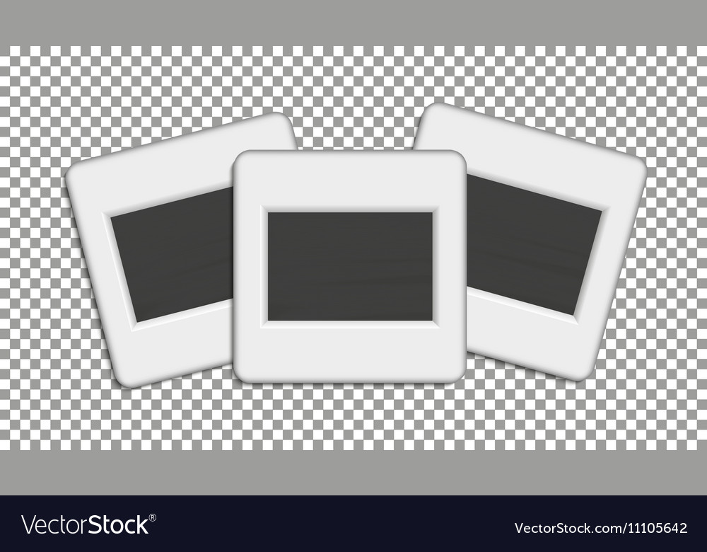 Realistic photographic slide vector image