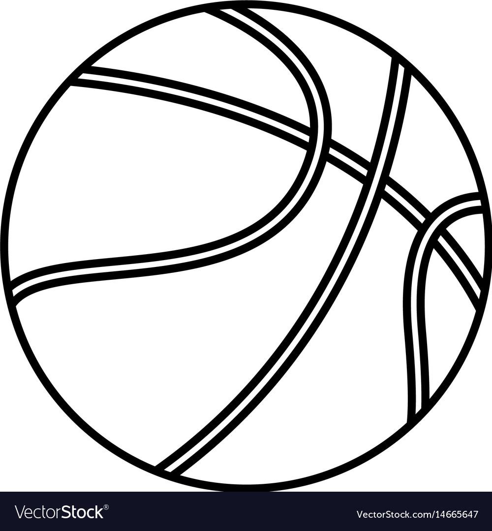 Basketball ball sport play equipment line