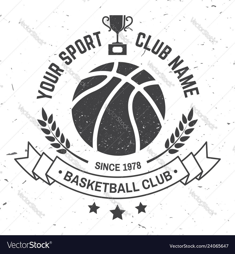 Basketball sport club badge