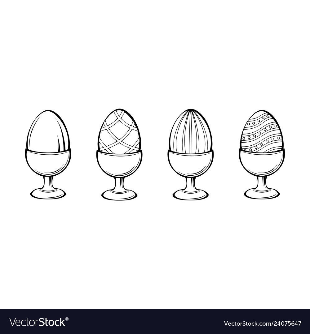 Eggs on a stand