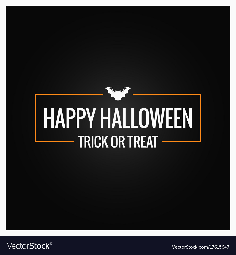 halloween party logo design background royalty free vector