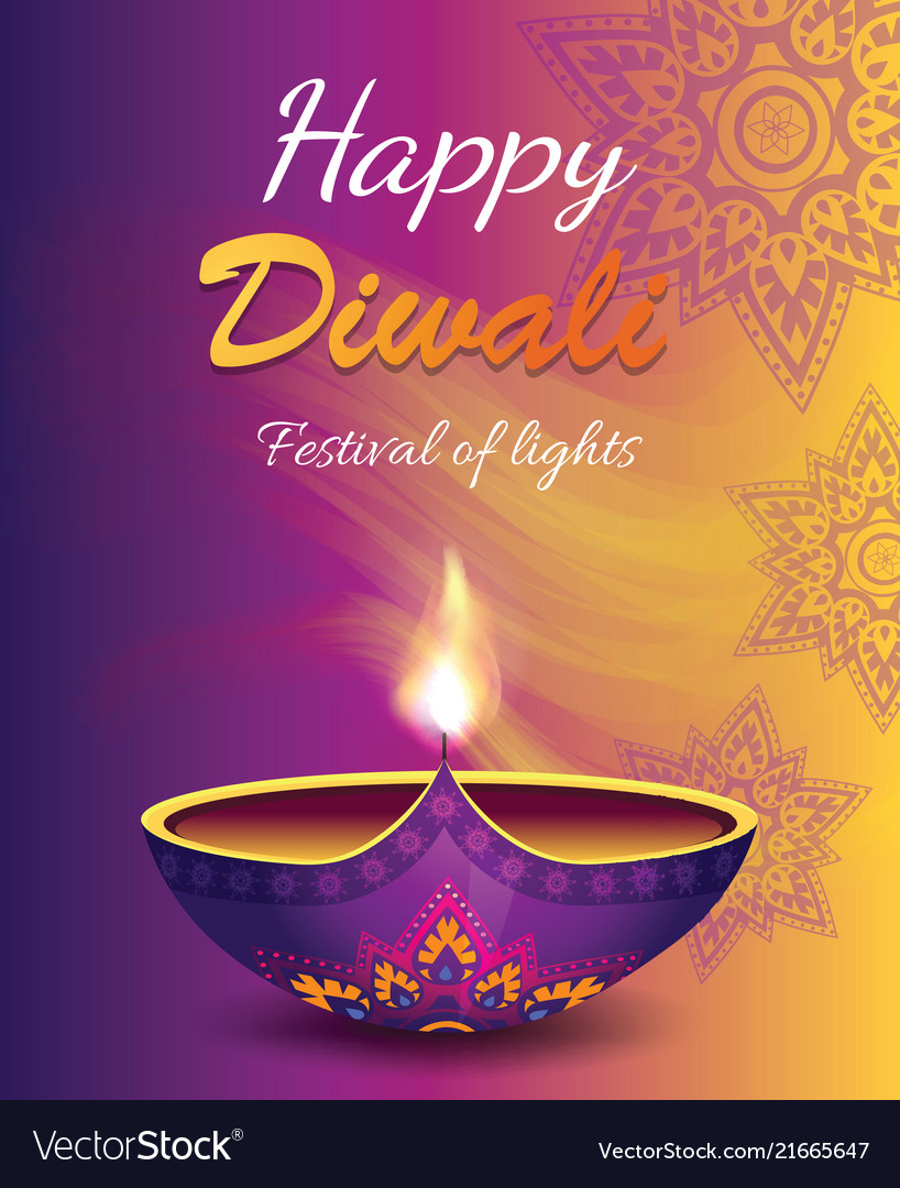 Happy diwali festival of light