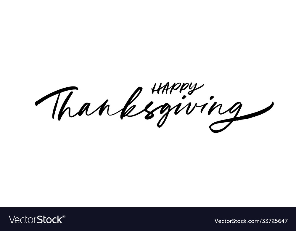 Happy thanksgiving modern brush calligraphy