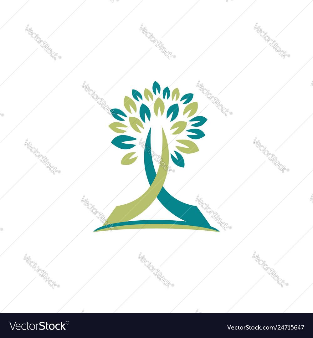 Tree nature logo religious symbol icon design