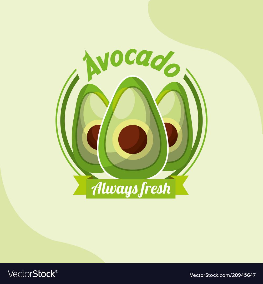 Vegetable avocado always fresh emblem