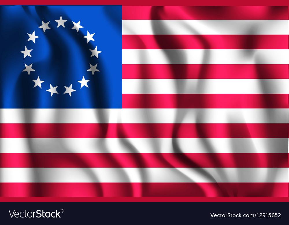 American Betsy Ross Flag Rectangular Shaped