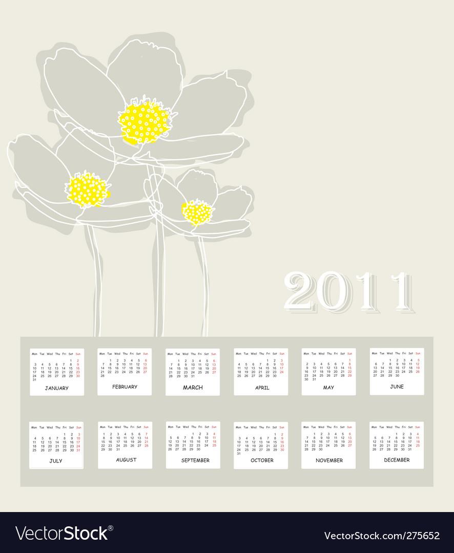 calendar of 2011. Annual Calendar For 2011
