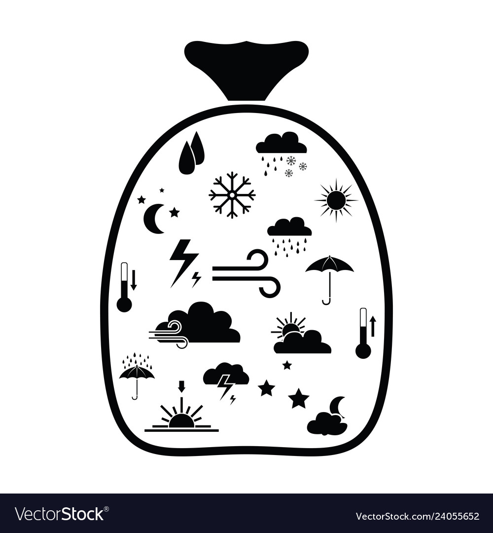 Bag with weather idea concept