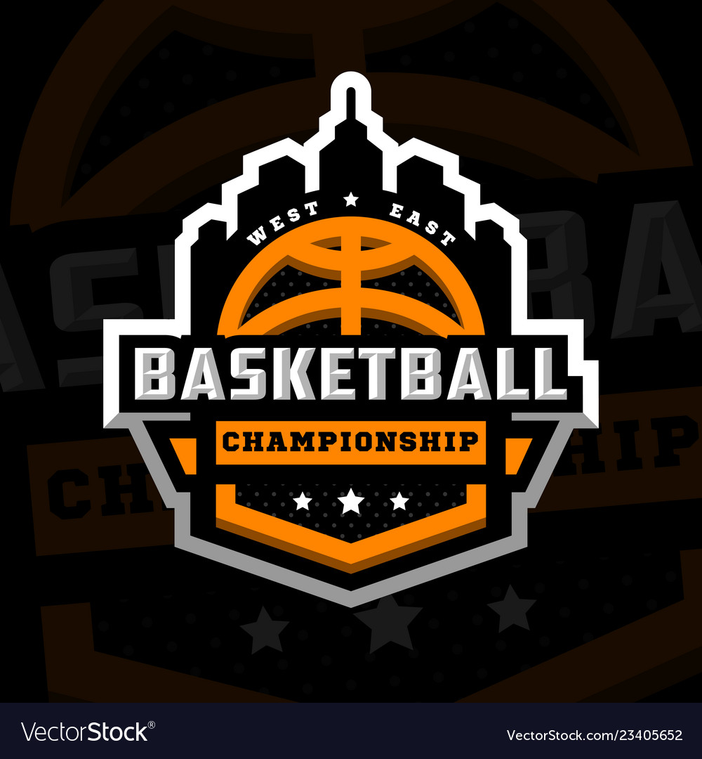 Basketball championship sports logo emblem on a