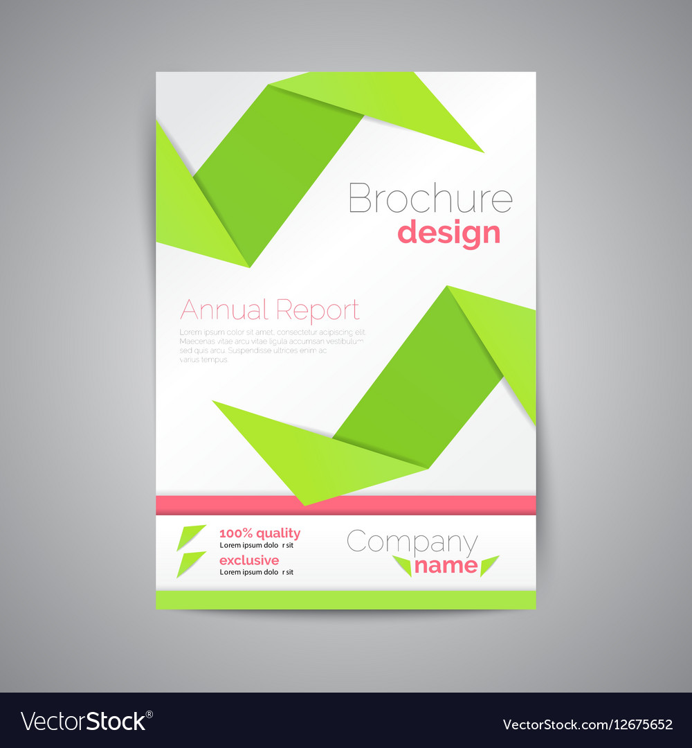 Geometric brochure A4 Origami style Material
