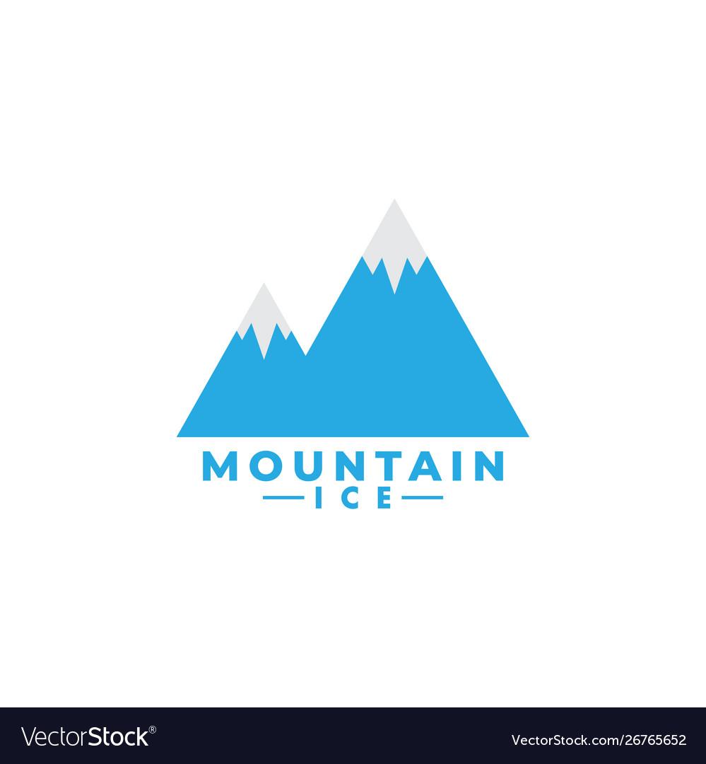 Mountain ice logo design template isolated