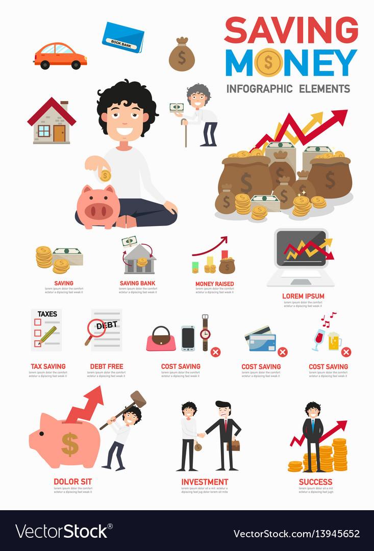 Saving money infographics