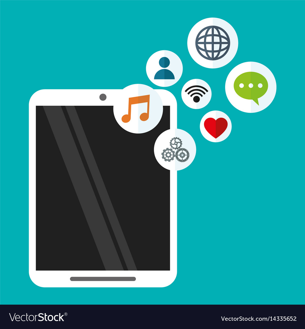 Smartphone wireless technology communication vector image