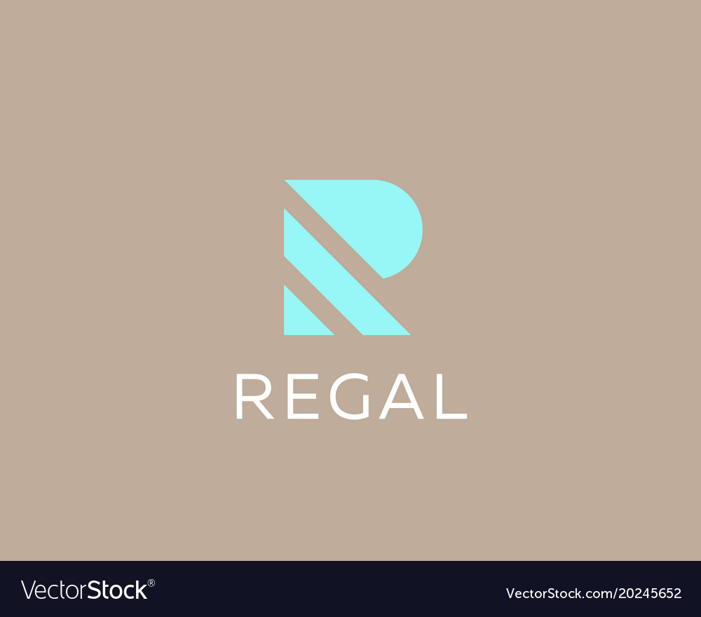 Stripes letter r logotype creative abc