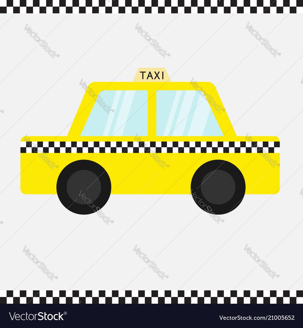Taxi car cab icon cartoon transportation