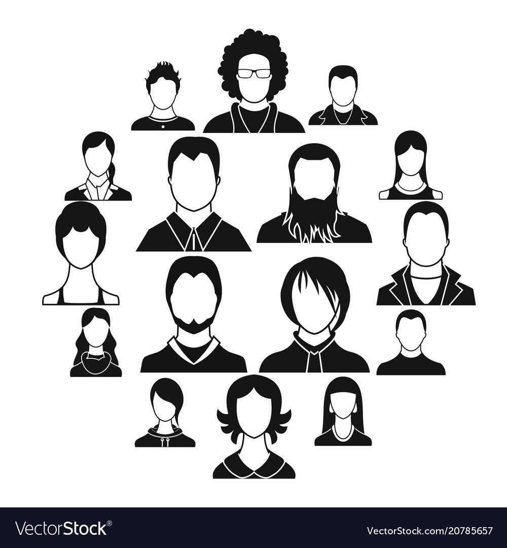 Avatars set icons