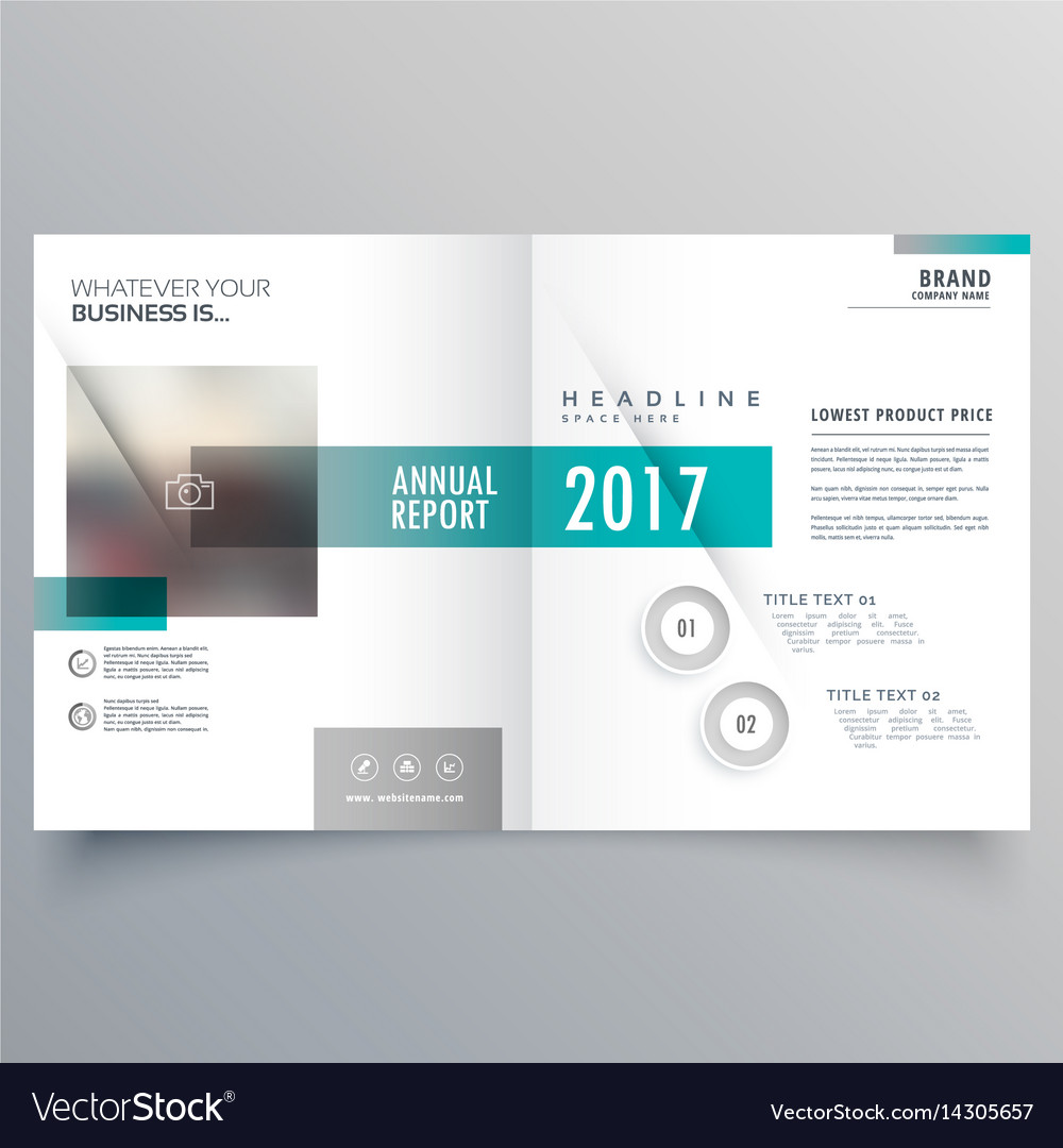 booklet cover layout template presentation for vector image
