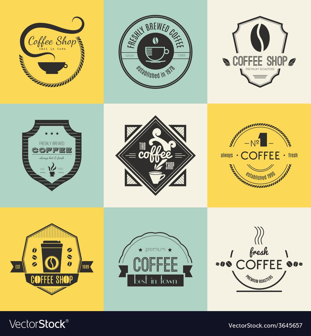 Coffee Shop Logo Collection vector image