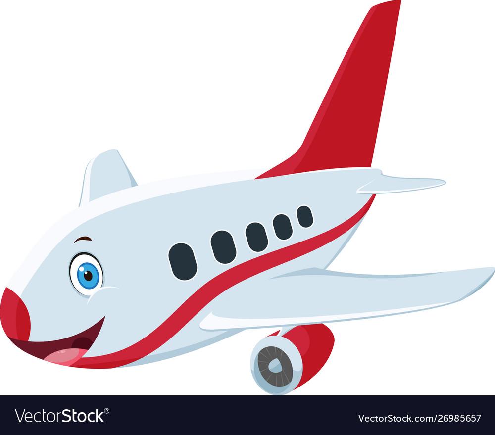 Cute Airplane Cartoon Design Royalty Free Vector Image