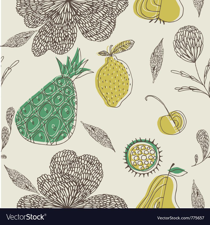 Fruit drawing wallpaper