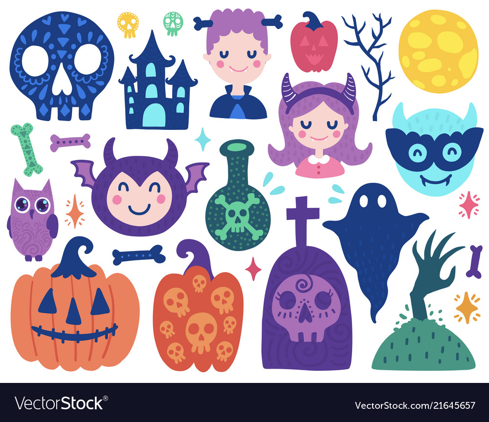 Halloween cute elements