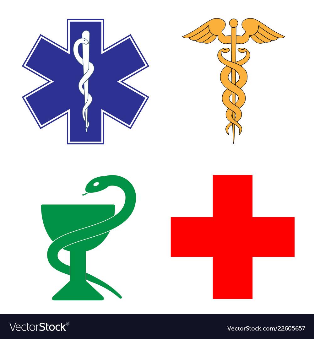 Medical symbol of the emergency