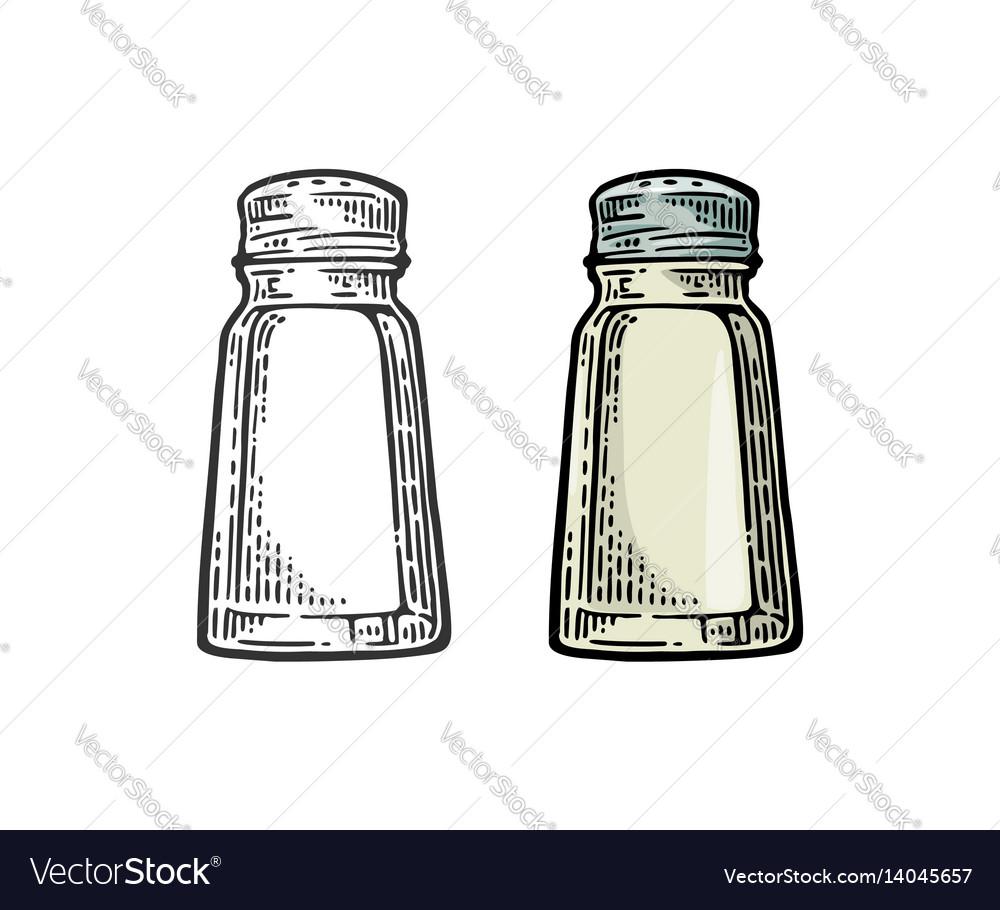 Salt shaker vintage black and color
