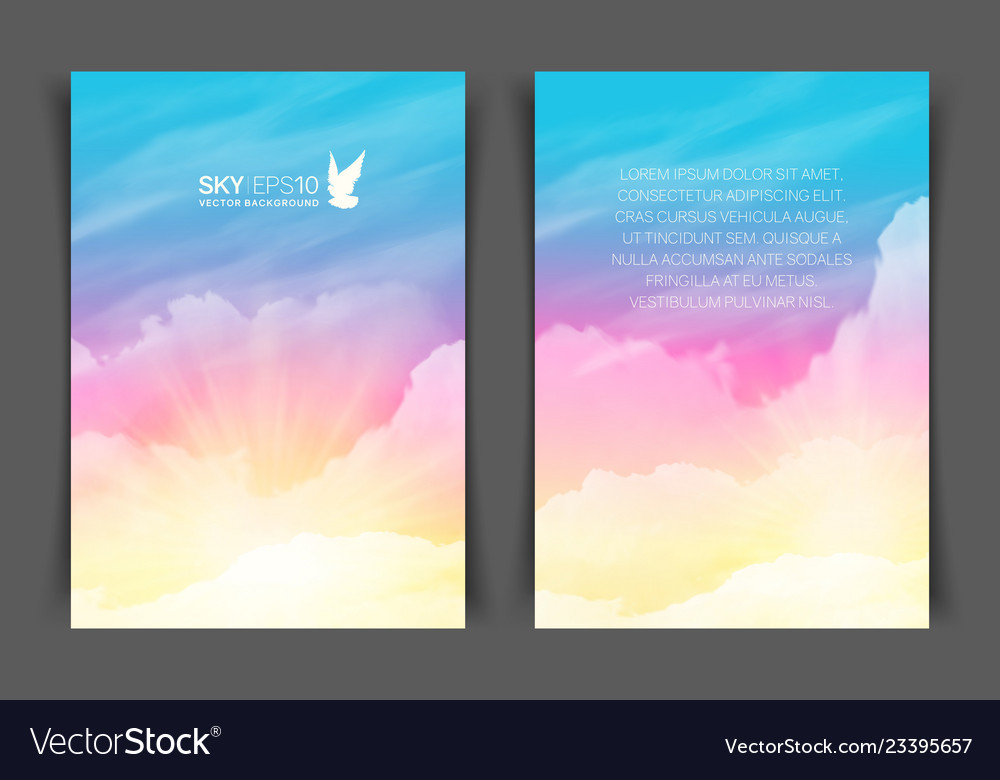 Two-sided vertical flyer a4 format