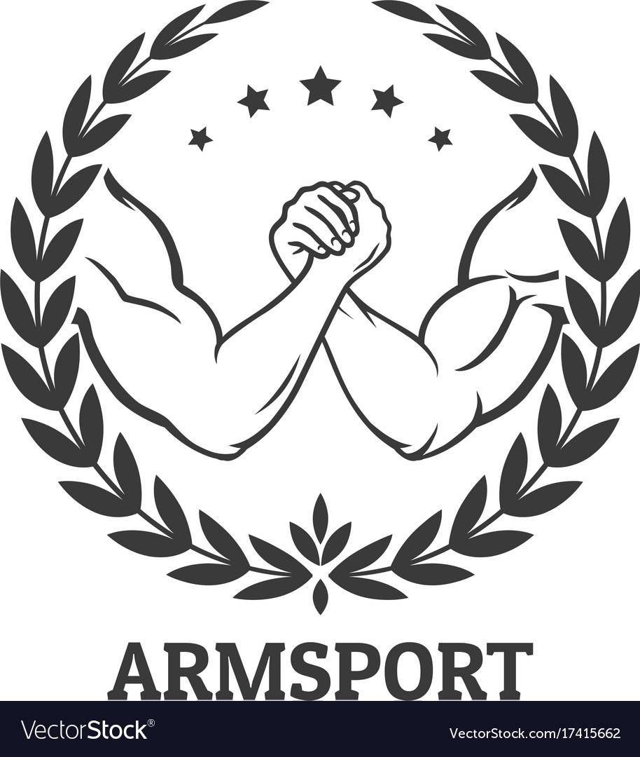 Arm Wrestling Logo Royalty Free Vector Image Vectorstock
