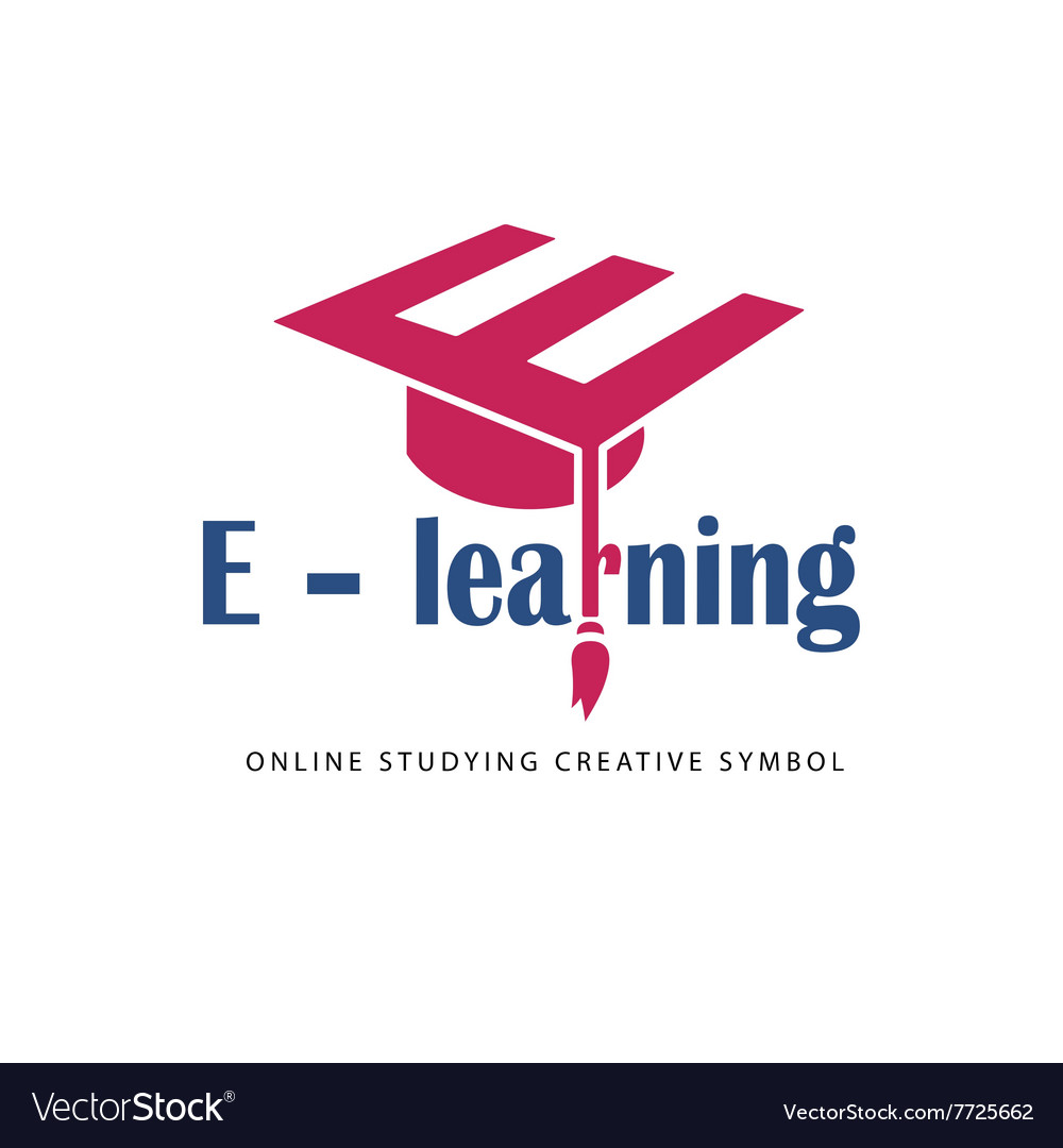 E learning logo template Royalty Free Vector Image