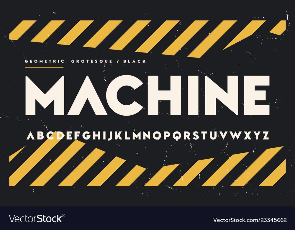 Geometric black weight san serif alphabet