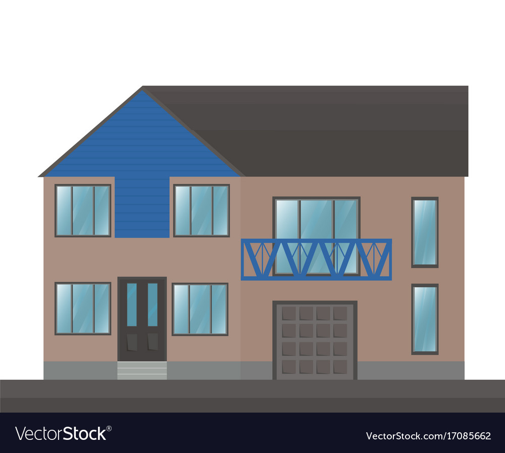 House building facade architecture vector image