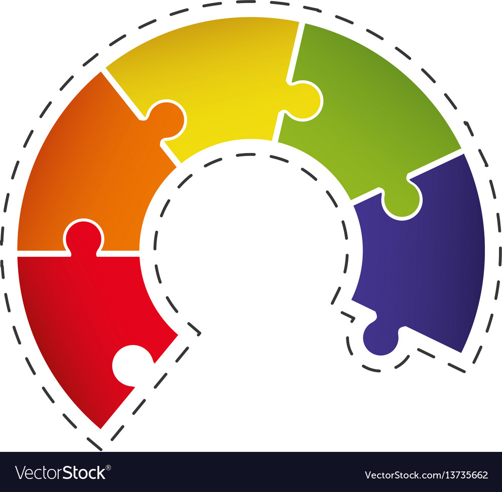 Puzzle solution chart image vector image