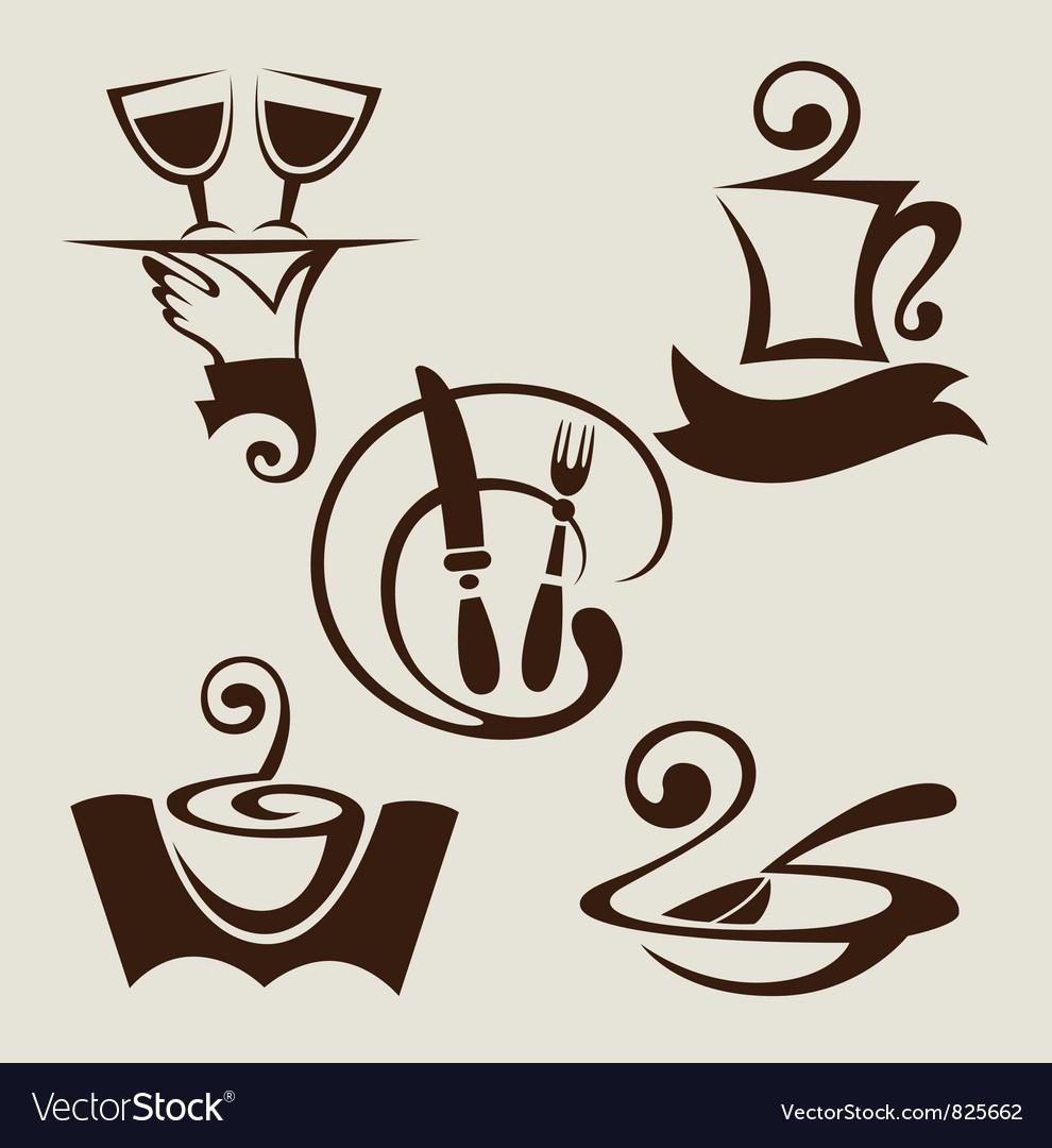 Restaurant menu symbols vector image