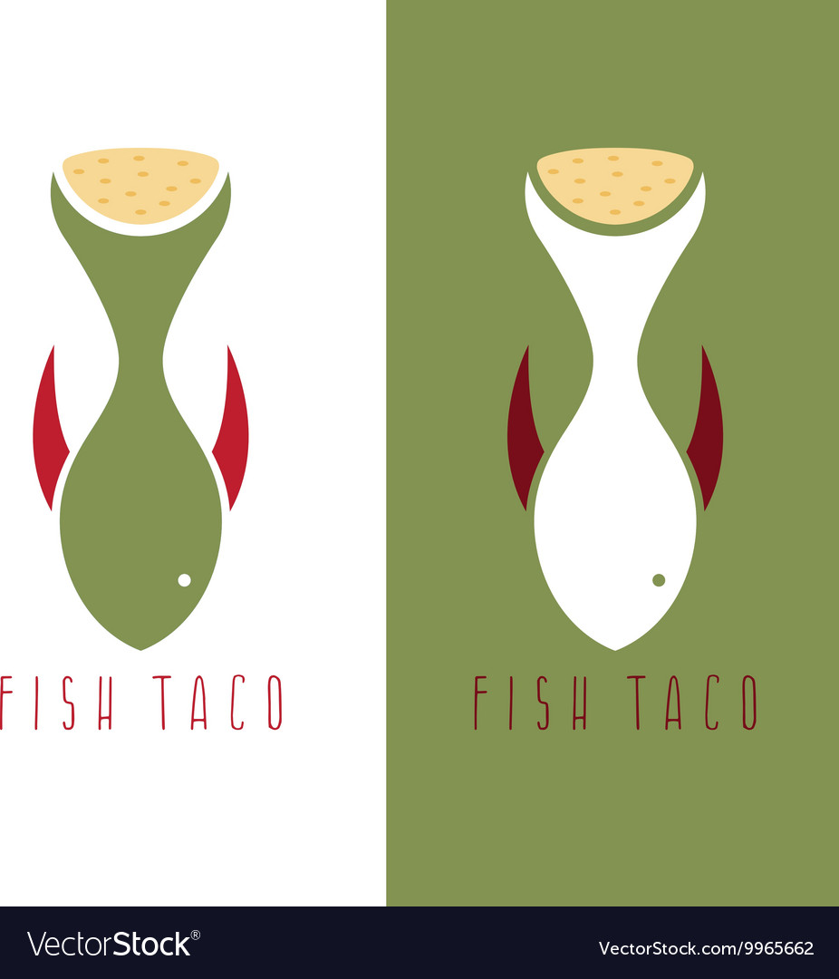 taco fish mexican food design template royalty free vector