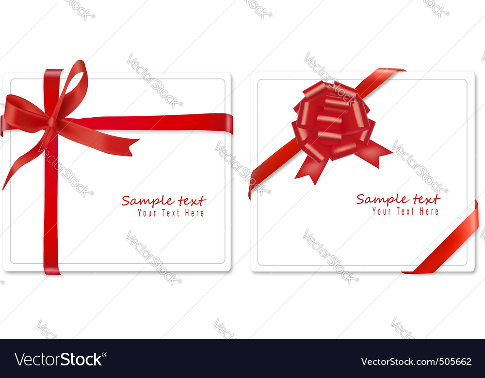Two bows ribbons vector image
