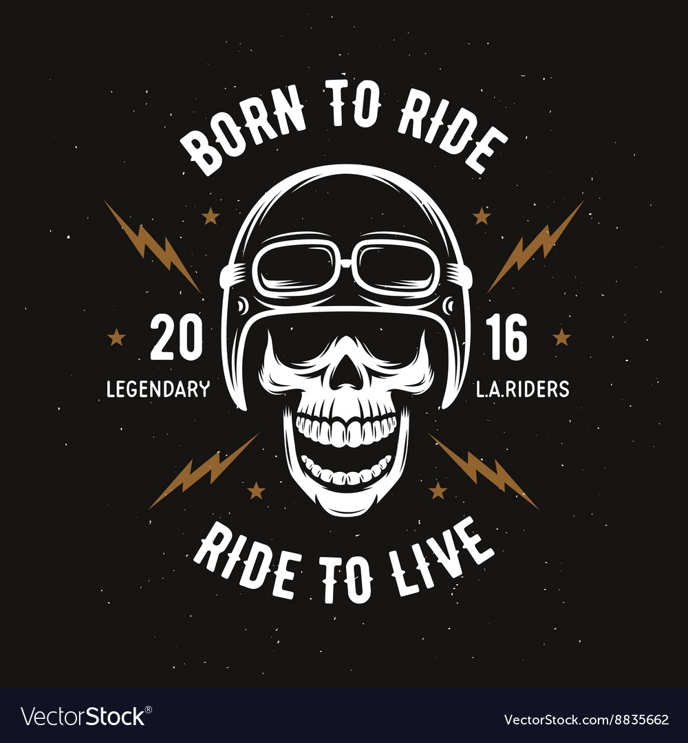 d600359e Vintage motorcycle t-shirt graphics Born to ride Vector Image