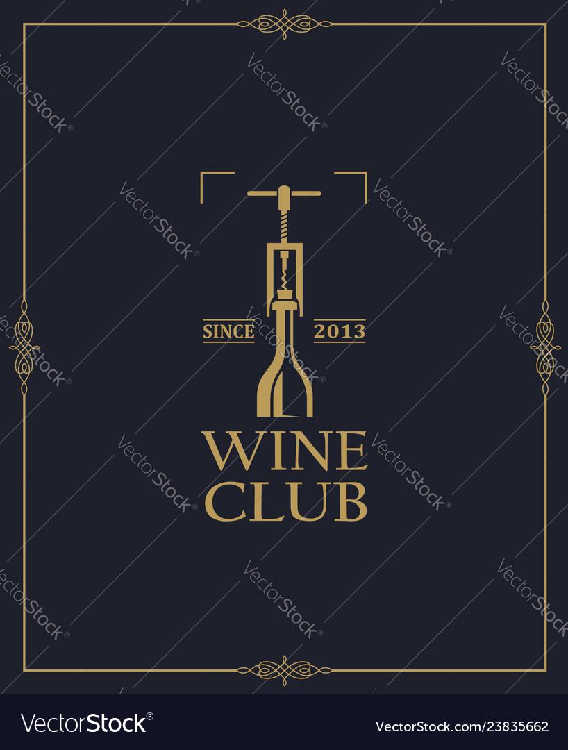 Wine club label