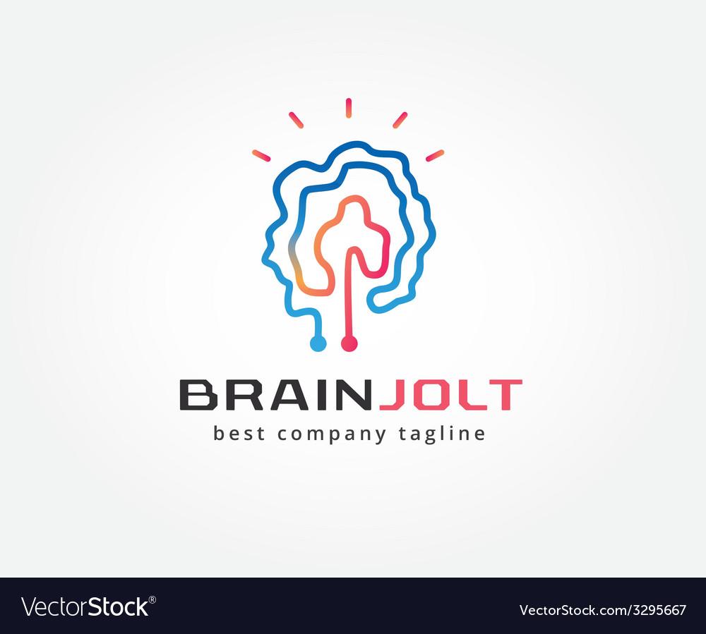 abstract brain logo icon concept logotype template rh vectorstock com brian logan twitter brain logic puzzles