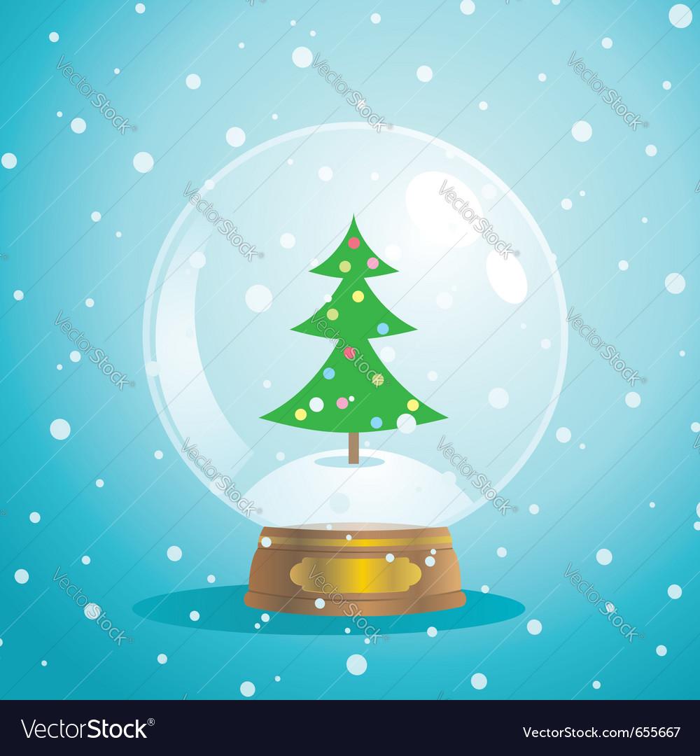 christmas snow globe royalty free vector image