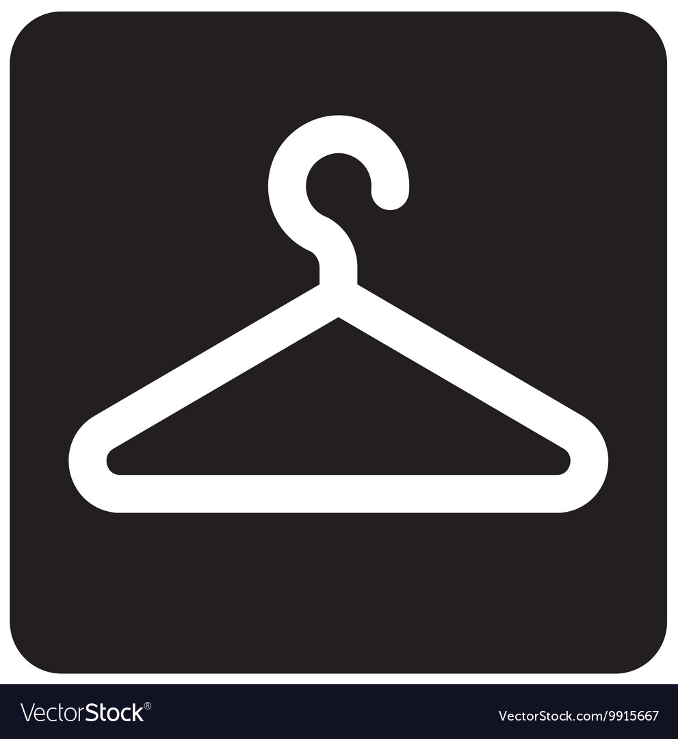 Coat Check Sign vector image