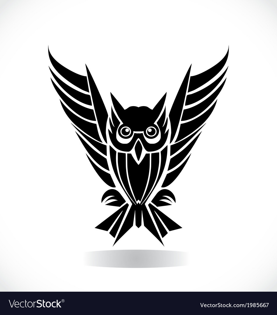 tribal owl royalty free vector image vectorstock rh vectorstock com cute owl free vector free owl vector images