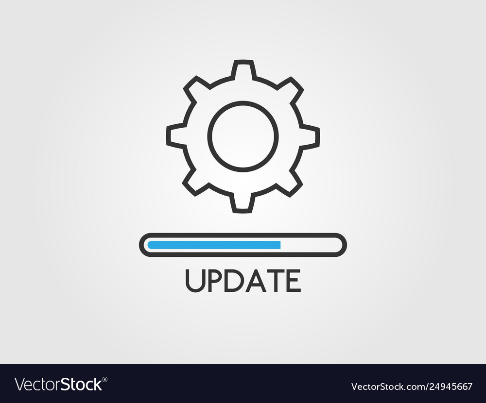 Update software concept upgrade system icon