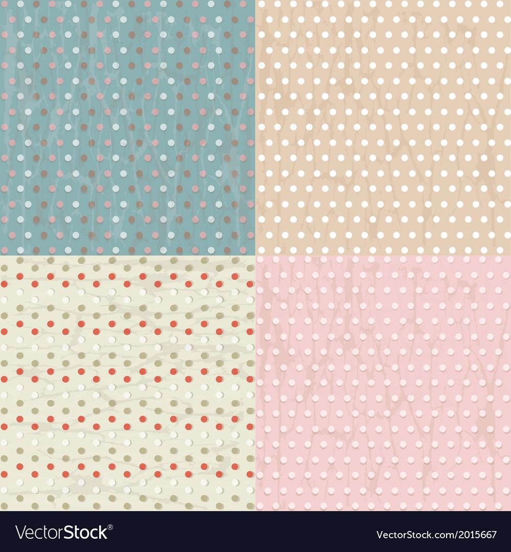 Vintage Paper With Polka Dots Set vector image