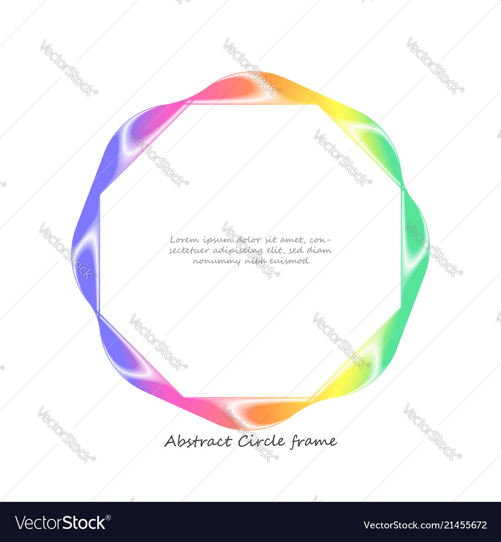 Abstract colorful wave circle frame background