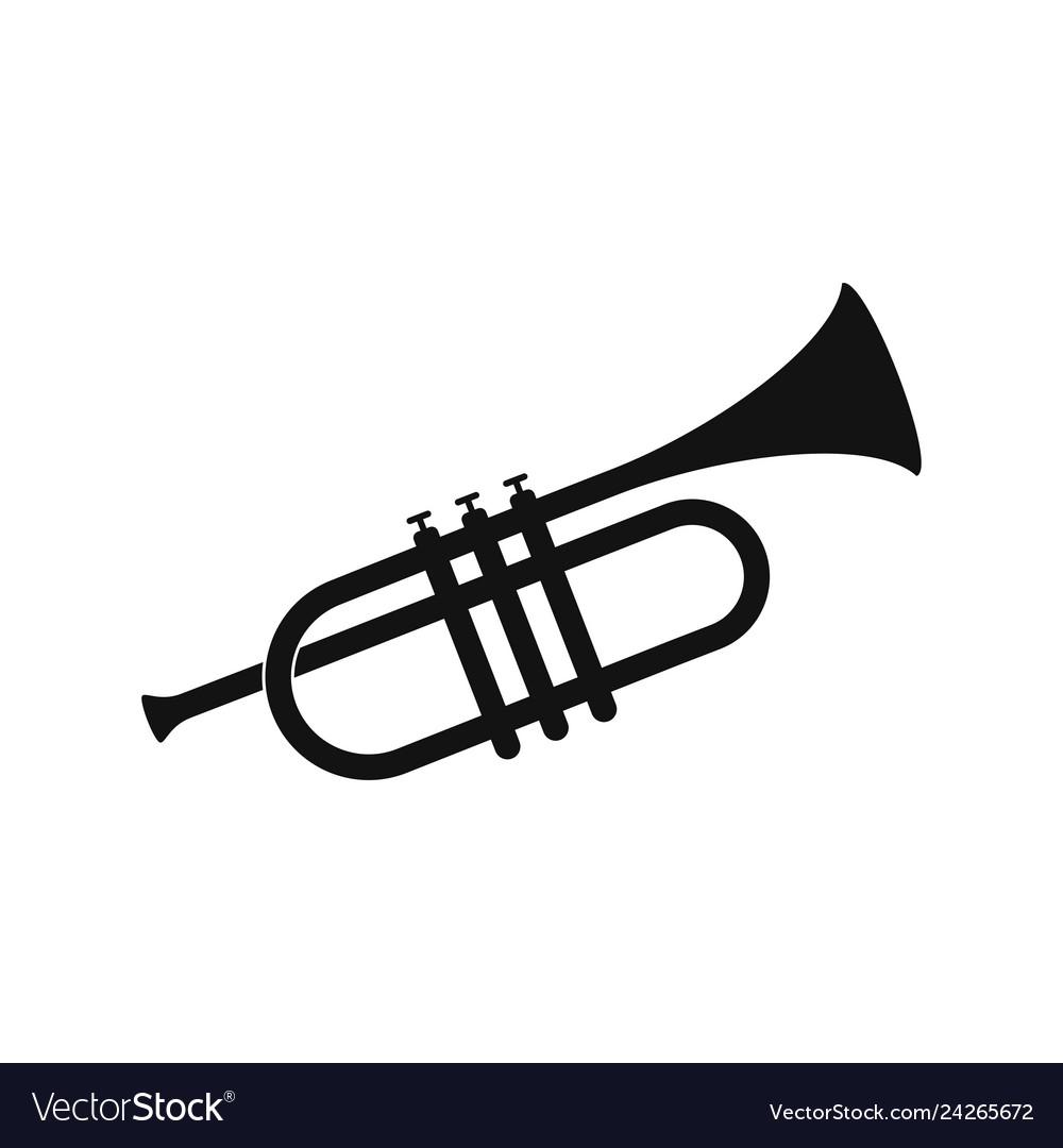 Brass trumpet icon