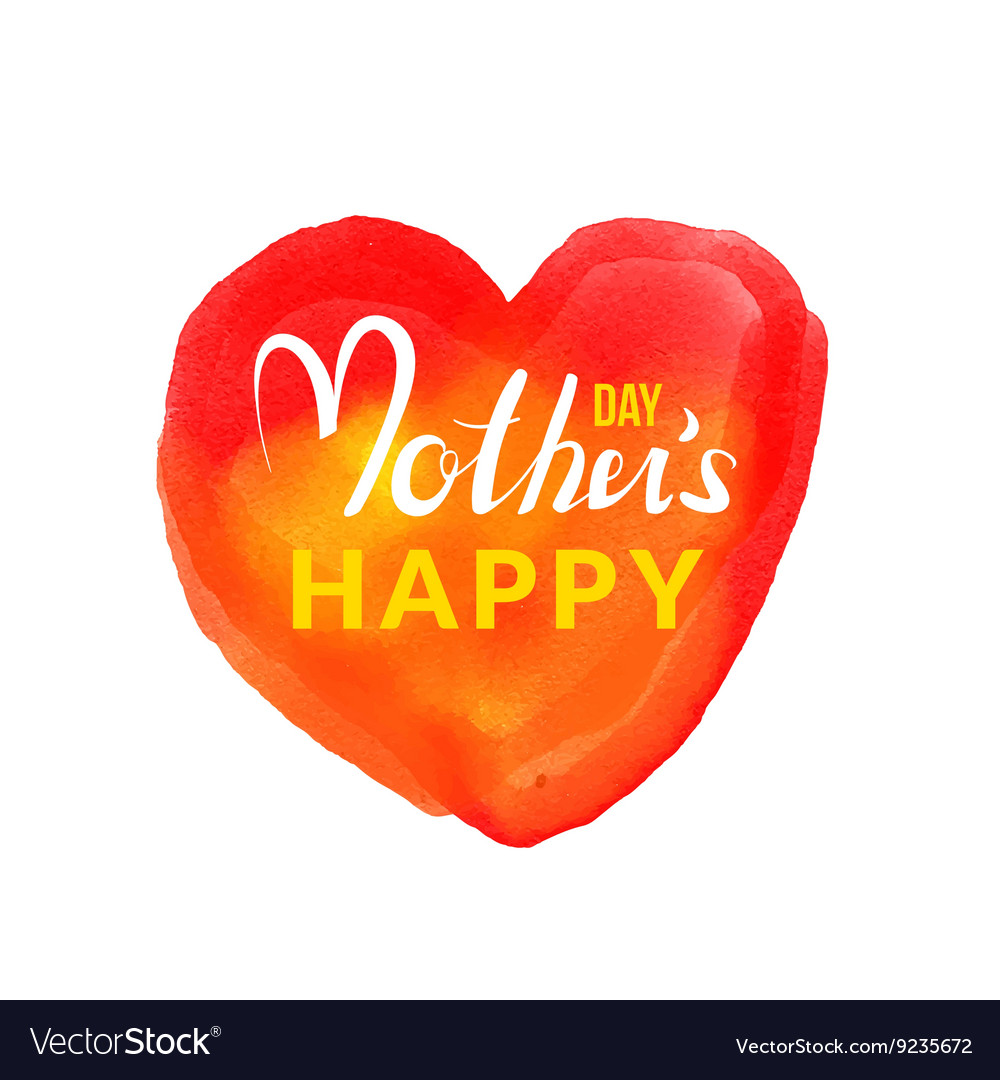 Calligraphic lettering Happy Mothers Day with hand