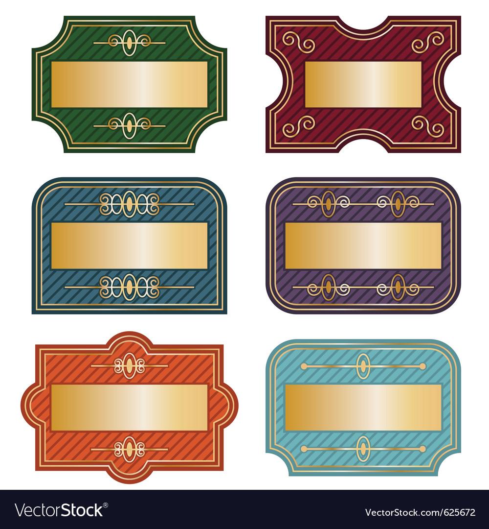 decorative labels royalty free vector image vectorstock