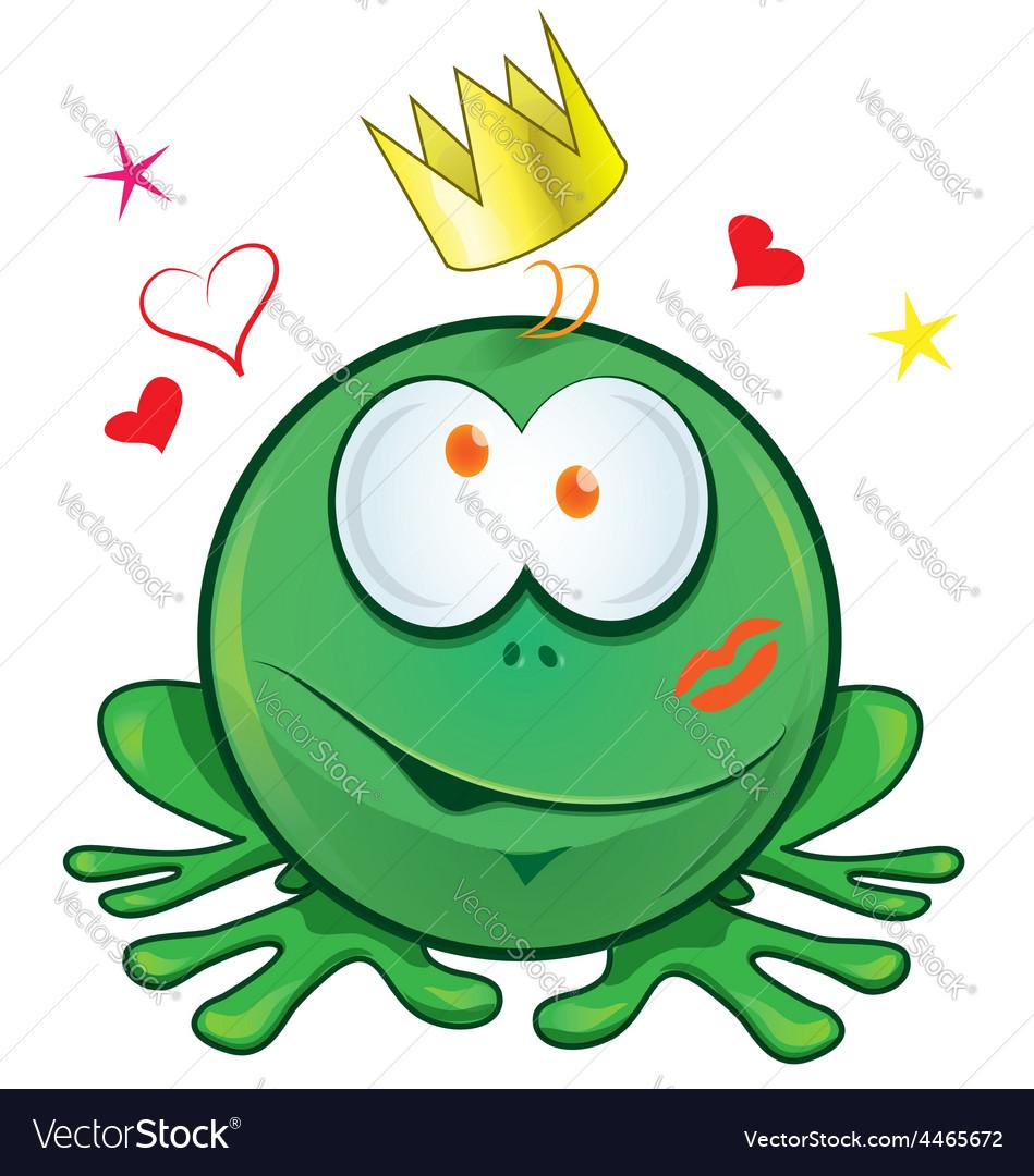 Frog cartoon crazy for love